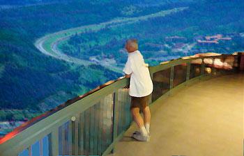 Balcony overlooking highway