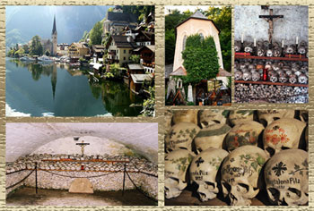 Collage of photos from Halstatt