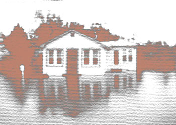 Flooded house, as sketch