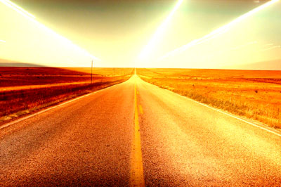 Road with lights