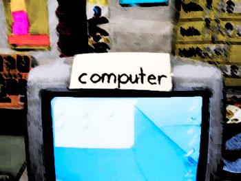 Computer in classroom