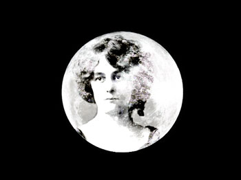 Maud Gonne's face in the moon