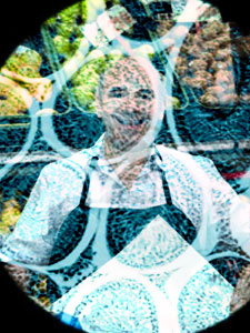 Smiling greengrocer