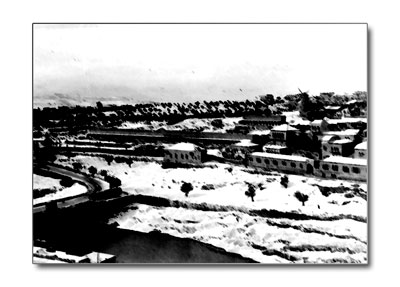 Village in black and white