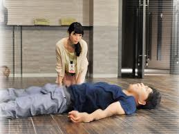 Man melting into floor
