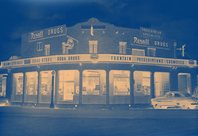 Vintage photo of a Rexall's