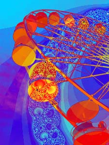 Ferris wheel with superimposed fractal
