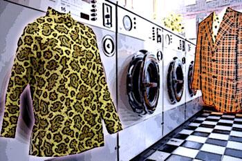 Laundromat, paisley shirt and leisure jacket