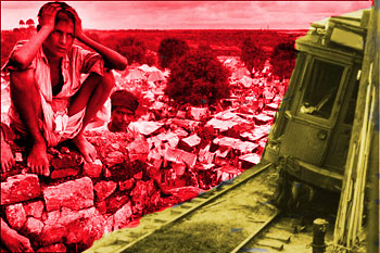 India's Partition and capsized trolley