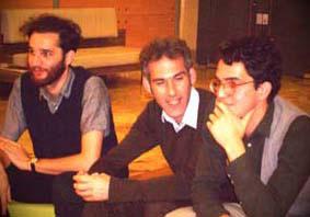 Josh and Ben Safdie with Ron Bronstein