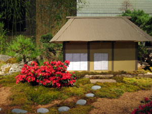 Miniature Japanese home