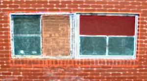 Color blocked windows by Alyce Wilson