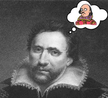 Ben Jonson thinking of a sad Shakespeare