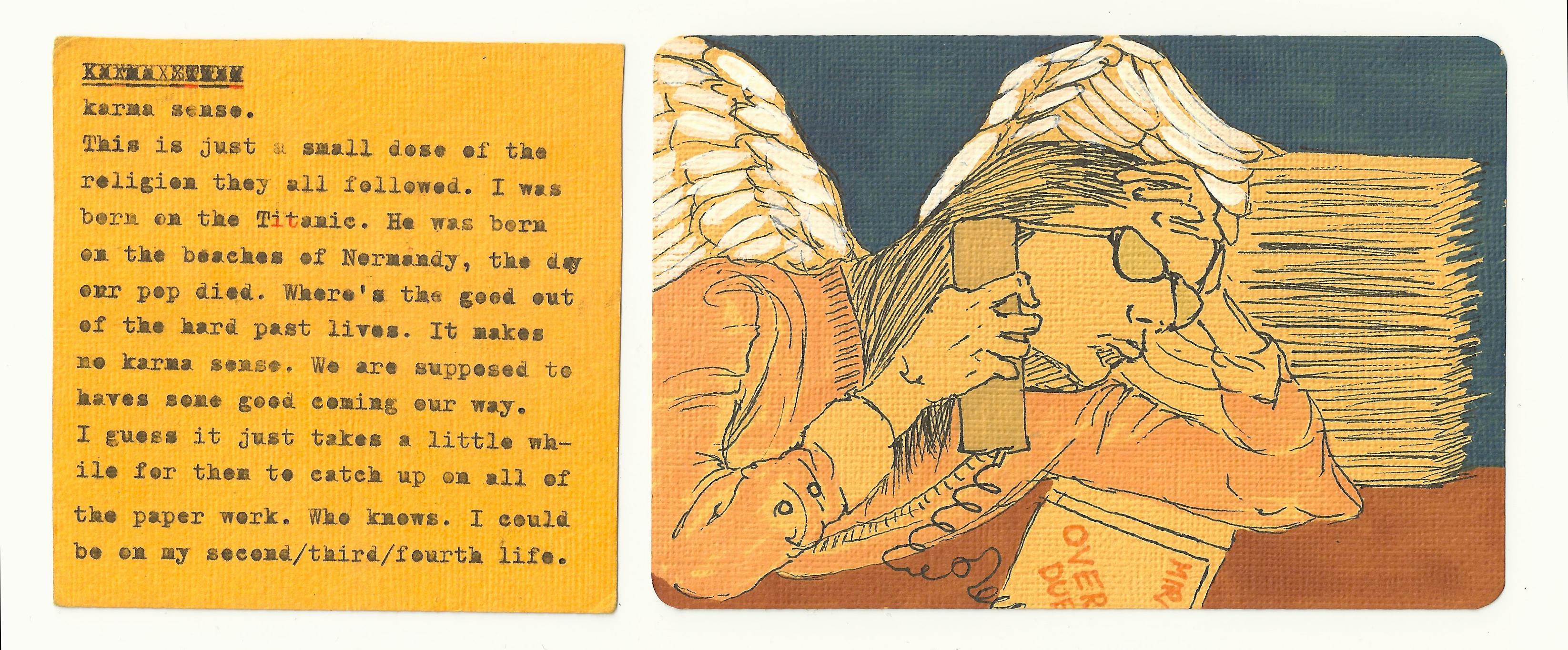 Angel on the phone