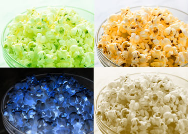Popcorn with four filters