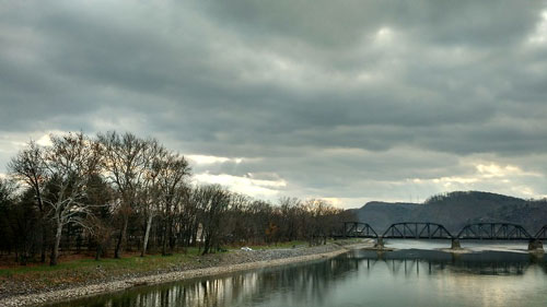 Susquehanna River on overcast day