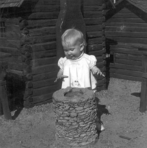 Alyce Wilson as a toddler