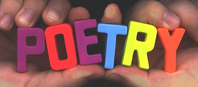 Poetry spelled out in magnets