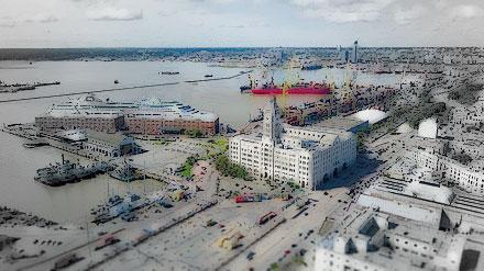 Montevideo harbor, 1950s
