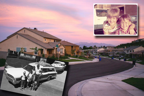 Suburbs with old photographs